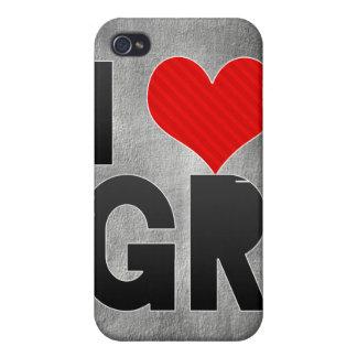 Amo a GR iPhone 4 Protectores