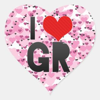 Amo a GR Pegatina Corazon Personalizadas