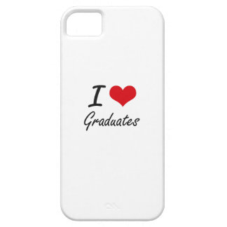 Amo a graduados iPhone 5 funda