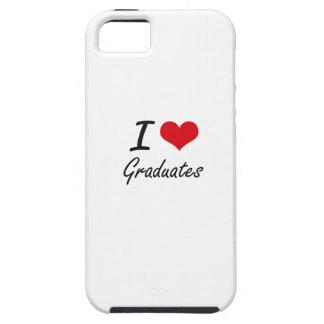 Amo a graduados iPhone 5 fundas