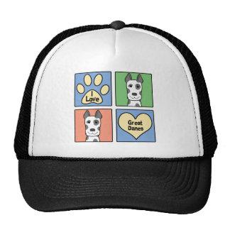 Amo a grandes daneses gorras