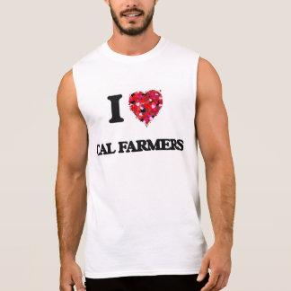 Amo a granjeros de la caloría playera sin mangas