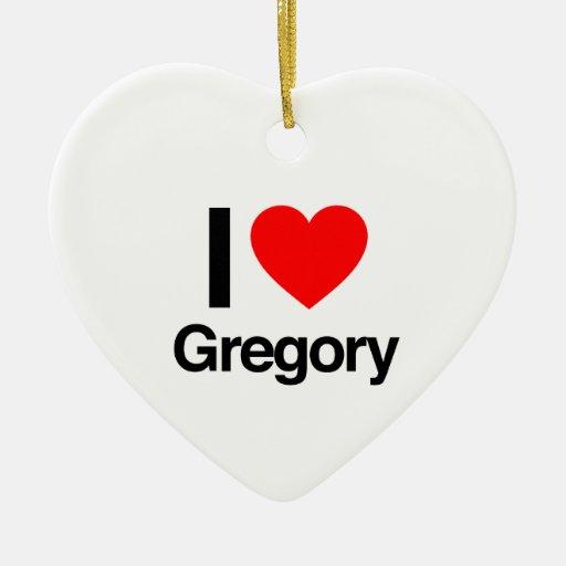 amo a Gregorio Adorno De Cerámica En Forma De Corazón