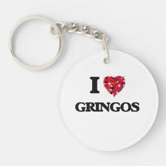 Amo a Gringos Llavero Redondo Acrílico A Una Cara