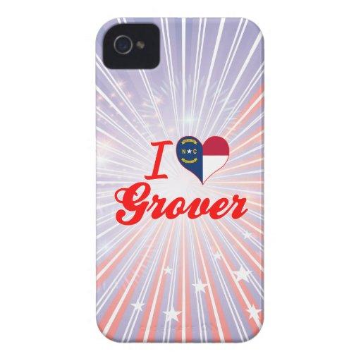 Amo a Grover, Carolina del Norte iPhone 4 Case-Mate Carcasas