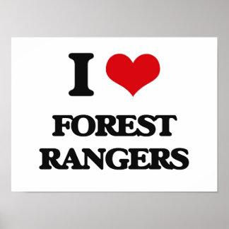 AMO a guardabosques del bosque Posters