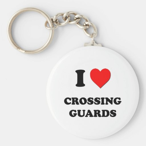 Amo a guardias de travesía llavero redondo tipo pin