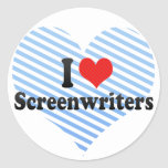 Amo a guionistas etiqueta