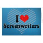 Amo a guionistas tarjeton