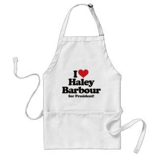 Amo a Haley Barbour para el presidente Delantal