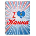 Amo a Hanna, Oklahoma Libros De Apuntes