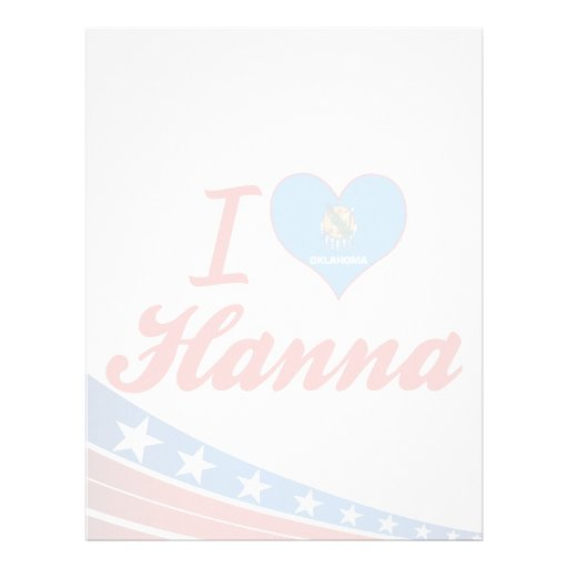 Amo a Hanna, Oklahoma Membrete