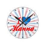 Amo a Hanna, Oklahoma Relojes De Pared