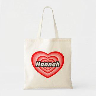 Amo a Hannah Bolsa Tela Barata