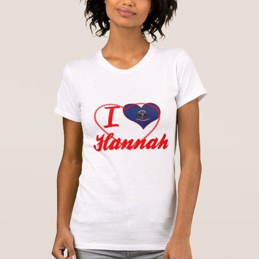 Amo a Hannah, Dakota del Norte Camisetas
