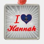 Amo a Hannah, Dakota del Norte Ornamento De Navidad