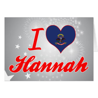 Amo a Hannah Dakota del Norte Felicitacion
