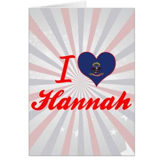 Amo a Hannah, Dakota del Norte Tarjeton