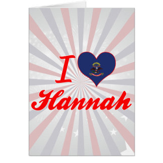 Amo a Hannah Dakota del Norte Tarjeton