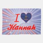 Amo a Hannah, Dakota del Norte Toallas