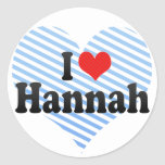 Amo a Hannah Etiqueta Redonda