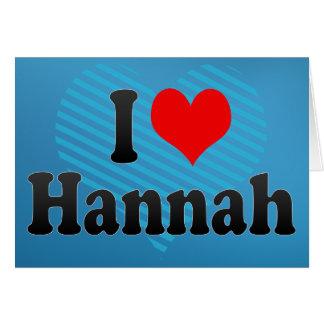 Amo a Hannah Felicitación