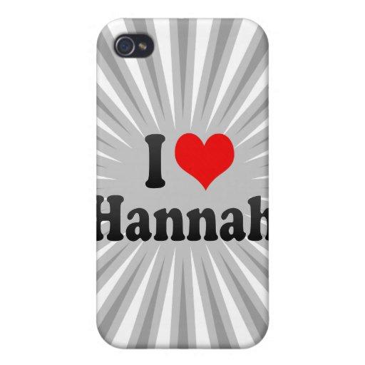 Amo a Hannah iPhone 4 Carcasa