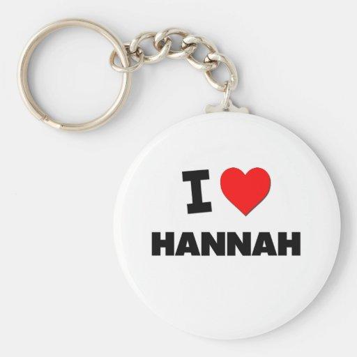 Amo a Hannah Llavero Redondo Tipo Pin