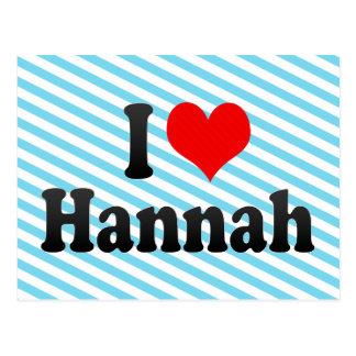 Amo a Hannah Postal