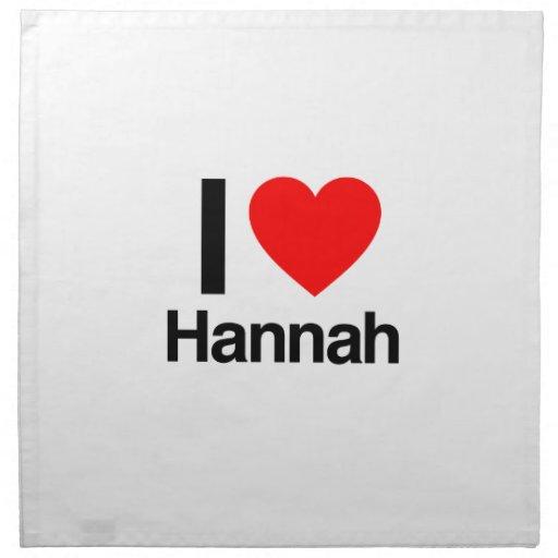 amo a Hannah Servilleta Imprimida