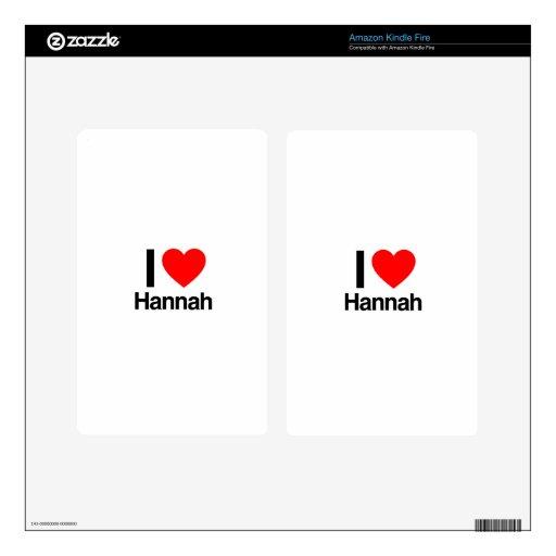 amo a Hannah Skin Para Kindle Fire