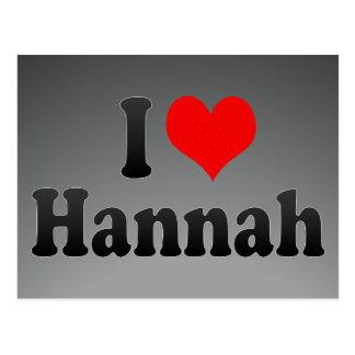 Amo a Hannah Tarjetas Postales
