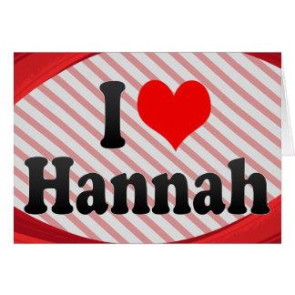Amo a Hannah Tarjeton