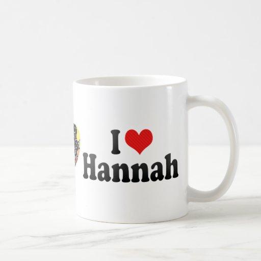 Amo a Hannah Tazas De Café