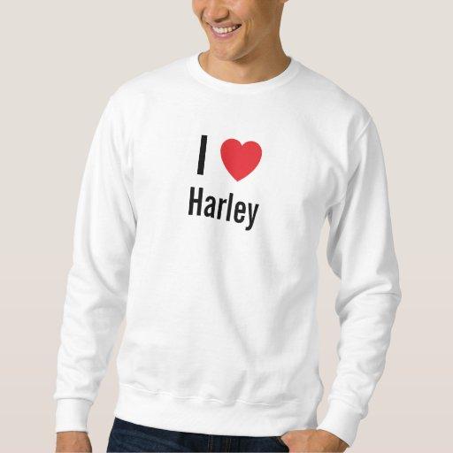 Amo a Harley Sudaderas Encapuchadas