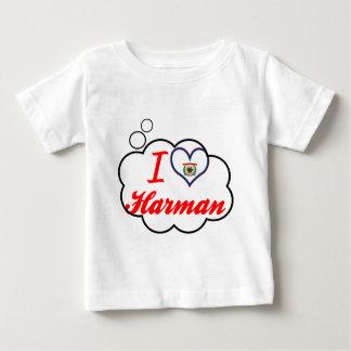 Amo a Harman, Virginia Occidental Remera