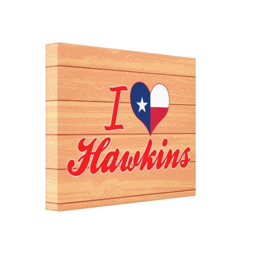 Amo a Hawkins, Tejas Lienzo Envuelto Para Galerias