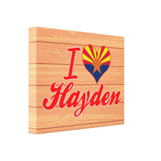 Amo a Hayden, Colorado Lona Envuelta Para Galerias