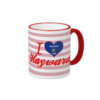 Amo a Hayward, Wisconsin Taza De Dos Colores