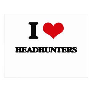 Amo a Headhunters Postales
