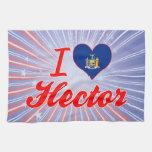 Amo a Hector, Nueva York Toallas De Mano