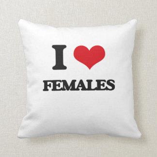 Amo a hembras cojin