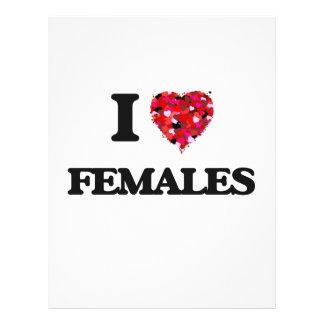 """Amo a hembras folleto 8.5"""" x 11"""""""