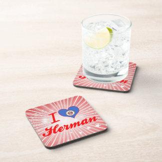 Amo a Herman, Minnesota Posavasos De Bebidas