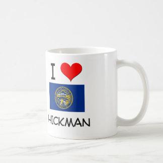 Amo a Hickman Nebraska Taza Básica Blanca