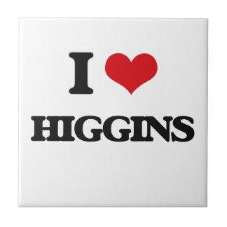 Amo a Higgins Azulejo Cuadrado Pequeño