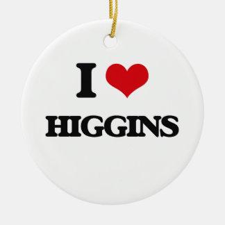 Amo a Higgins Adorno Redondo De Cerámica