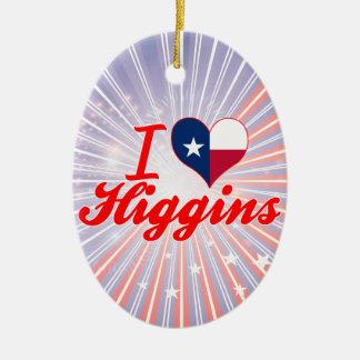Amo a Higgins, Tejas Adorno Ovalado De Cerámica