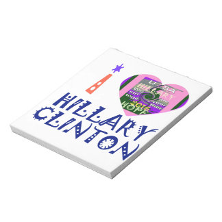 Amo a Hillary Clinton para el arte de presidente Bloc De Notas