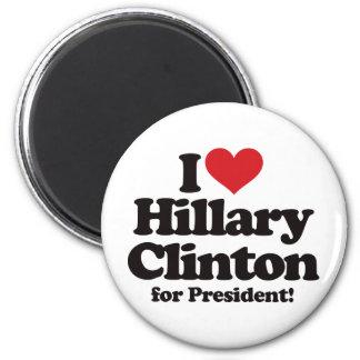 Amo a Hillary Clinton para el presidente Imán Redondo 5 Cm